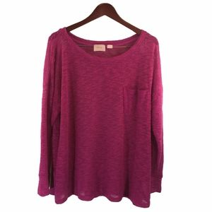 Maeve Anthropologie Oversized Grape Sweater XL